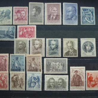 ЧССР. 1947-1951, Сборный лот 23 негаш. марки по 3 грн.**