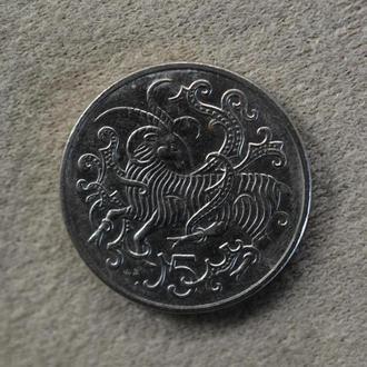 Остров Мэн, 5 пенсов 1980 года (4912)