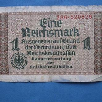 ГЕРМАНИЯ 1 рейхсмарка 1940-1945 год
