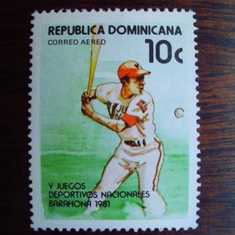 Доминика.1981г. Спорт. Бейсбол. MNH