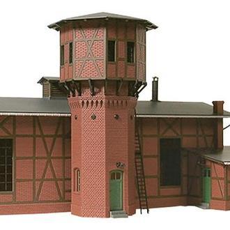 Локомотивное депо с водонапорной башней Auhagen 11400 для железной дороги Piko,Roco. H0 1:87