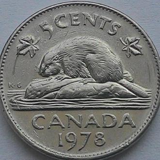 Канада 5 центів 1978