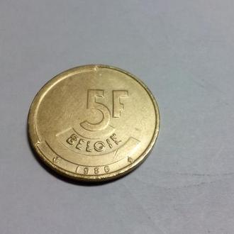 5 франков 1986 год