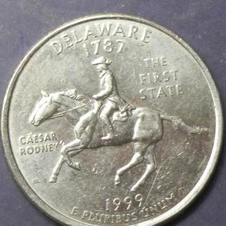 25 центів 1999 D США Делавер