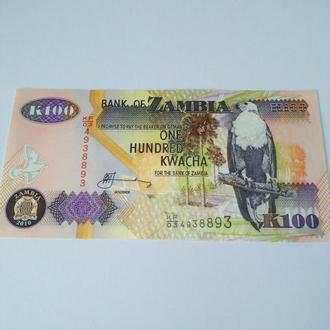 100 квача, Замбия, 2010, пресс, Unc