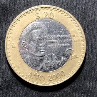 Мексика 20 песо 2000 Юбилейная.