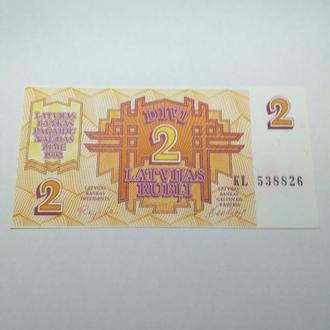 2 рубля, 1992, Латвия, пресс, unc, оригинал