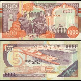 СОМАЛИ 1000 шиллингов 1990г. UNC