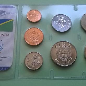 Набор СОЛОМОНОВЫ ОСТРОВА 2005 из серии - Das Geld Der Welt пластик блистер запайка набір СОЛОМОНОВІ