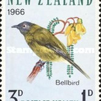 Новая Зеландия 1966 птицы