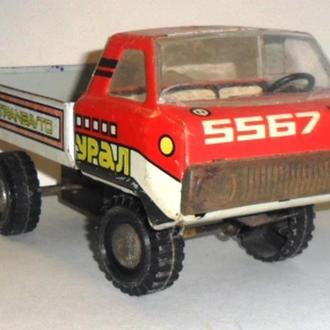 Игрушка механическая , заводная, Грузовик УРАЛ 5567 СССР