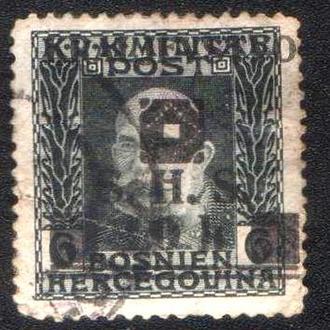 Королевство Сербов, Хорватов и Словенцев, Югославия (1919) Надпечатка