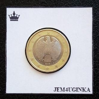 Германия. 1 евро 2002 г. (J) Состояние!