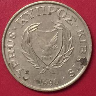 5 центов 1990 год Кипр