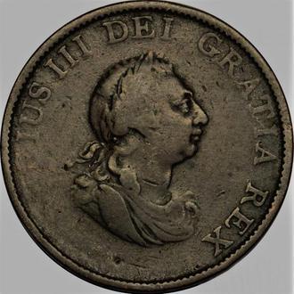 Англия 1/2 пенни 1799  год