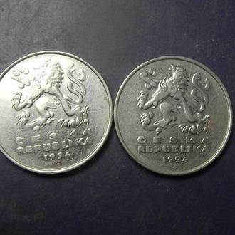 5 крон Чехія 1994 (два різновиди)