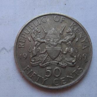 КЕНИЯ, 50 центов 1969 г.