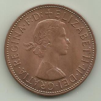 Великобритания Элизабет II 1 пенни 1967 aUNC