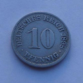1898 г - 10 пфенингов Германии