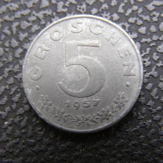 5 грошей Австрия 1957