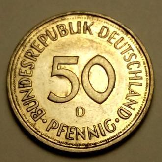 50 пфеннигов 1990 года ( D ) - Германия - СОСТОЯНИЕ !!! а2