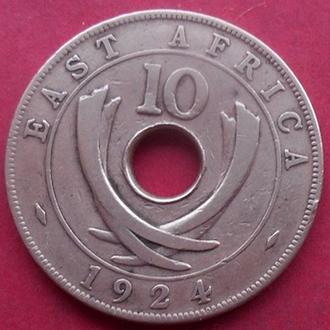 Британская Восточная Африка 10 центов 1924 год.