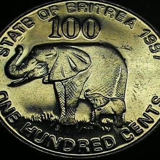 Эритрея, 100 центов 1997 год ОТЛИЧНАЯ!!!