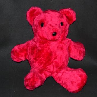 мягкая игрушка красивый малиновый мишка stuffed by me at the basic brown bear factory 2000 год винта