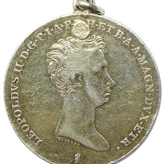 4 фиорини/талер 1834 Тоскана серебро VF редок крупный (бесплатная доставка из Польши)