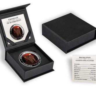 Сомали Леопард Special Edition Tираж 100шт серебряная монета 31,11 гр