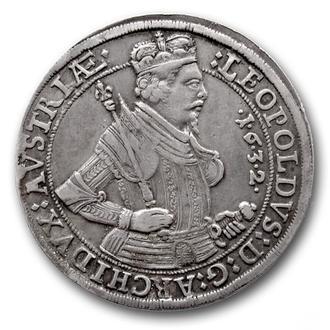 (А)3216 - Леопольд V (1619—1632 г.) AR Талер 1632