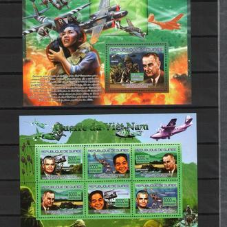 Гвинея 2007 ** Авиация Самолеты История Личности война во Вьетнаме БЛ+МЛ MNH