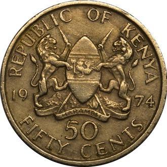 Кенія 50 центів 1974   #433