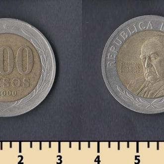 Чили 500 песо 2000
