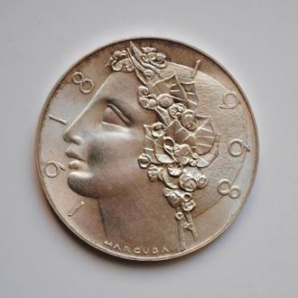 Чехословакия 50 крон 1968 г., UNC, '50 лет Независимости'