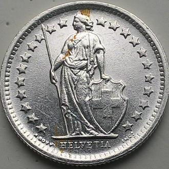 Швейцария 1/2 франка 1965 серебро СОСТОЯНИЕ!!!