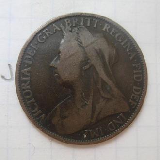 ВЕЛИКОБРИТАНИЯ. 1 пенни 1900 года.