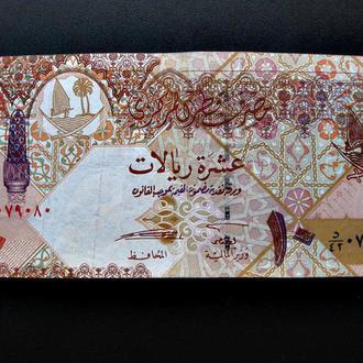 10 риалов КАТАРА 2003 года обиходная банкнота