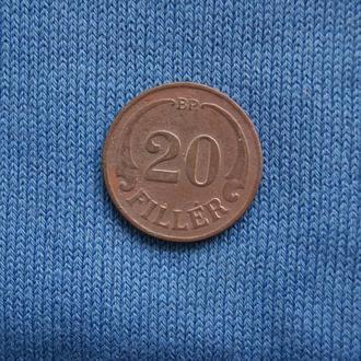 Венгрия 20 филлеров 1938 г