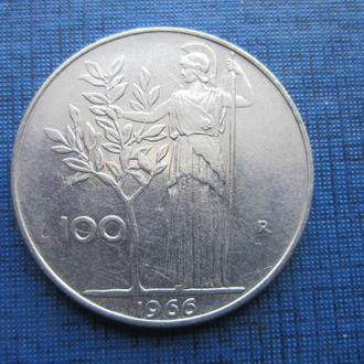 Монета 100 лир Италия 1966