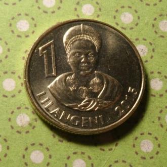 Свазиленд 2015 год монета 1 лилангени !