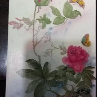 "Акварель. Chan Tung-Mui. USA. ""Flowers from the Orient"""