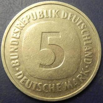 5 марок 1986 D ФРН