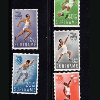 Футбол. Суринам  1960 г MNH -