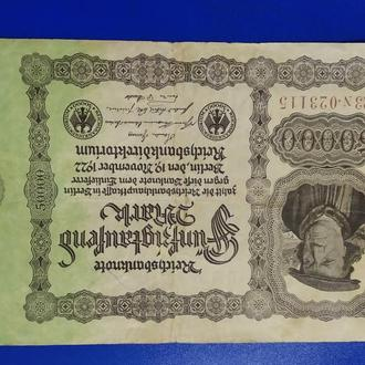 Немецкая марка  50 000 год выпуска 1922
