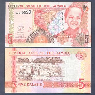 Боны Африка Гамбия 5 даласов 2013 г.