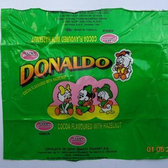 "Обёртка от шоколада ""Donaldo with hazelnuts"" (Ekol, Istanbul, Турция) (1994)"
