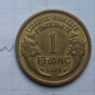 ФРАНЦИЯ. 1 франк 1938 года.
