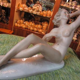 Антикварная Статуэтка Кристина Wallendorf, Ню, 25 см, 40-50х гг ХХ в., Германия.