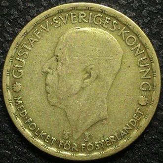 Швеция 1 крона 1946 год Серебро, дм.  25 мм, вес  7 г